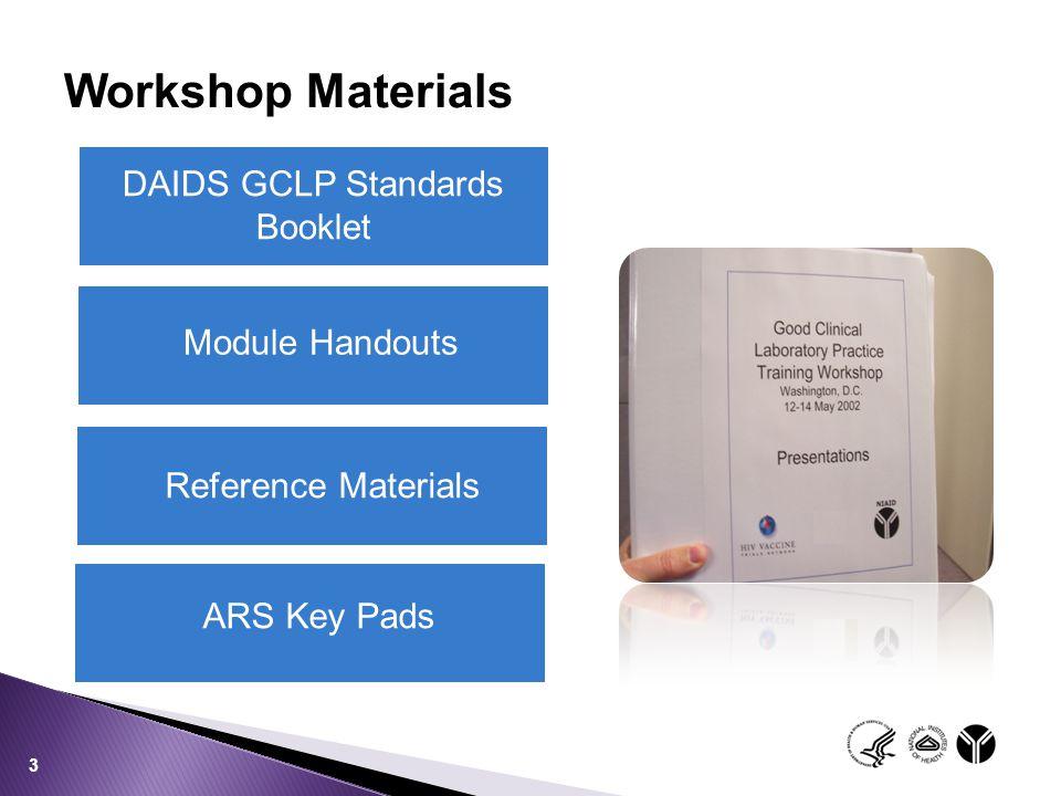 GCLP Standards GCLP Audits GCLP Training DAIDS-Sponsored Programs 24