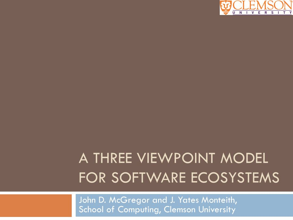 What is a Software Ecosystem. Not quite.