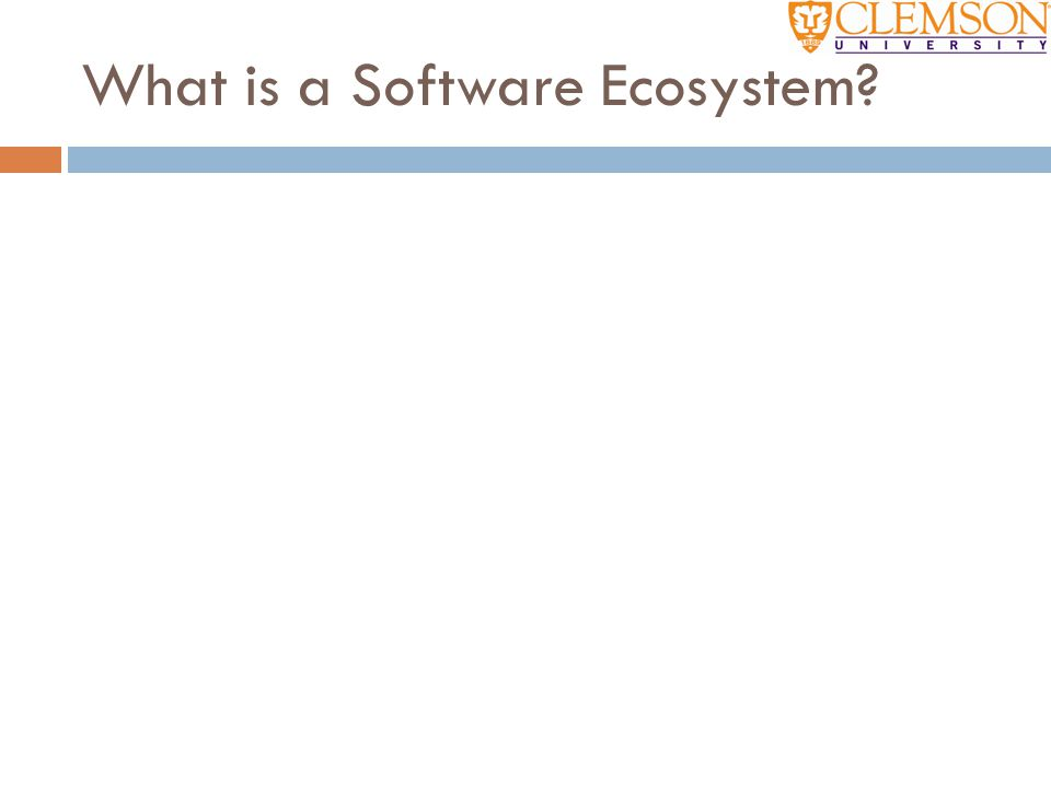 What is a Software Ecosystem?