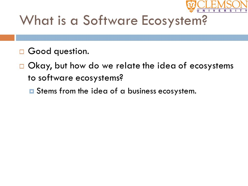 So what's the point. Software ecosystems can get very big.