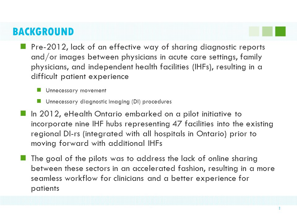 BACKGROUND Pre-2012, lack of an effective way of sharing diagnostic reports and/or images between physicians in acute care settings, family physicians