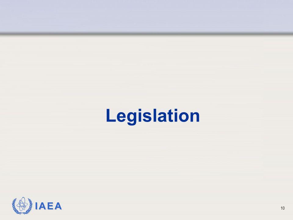IAEA 10 Legislation