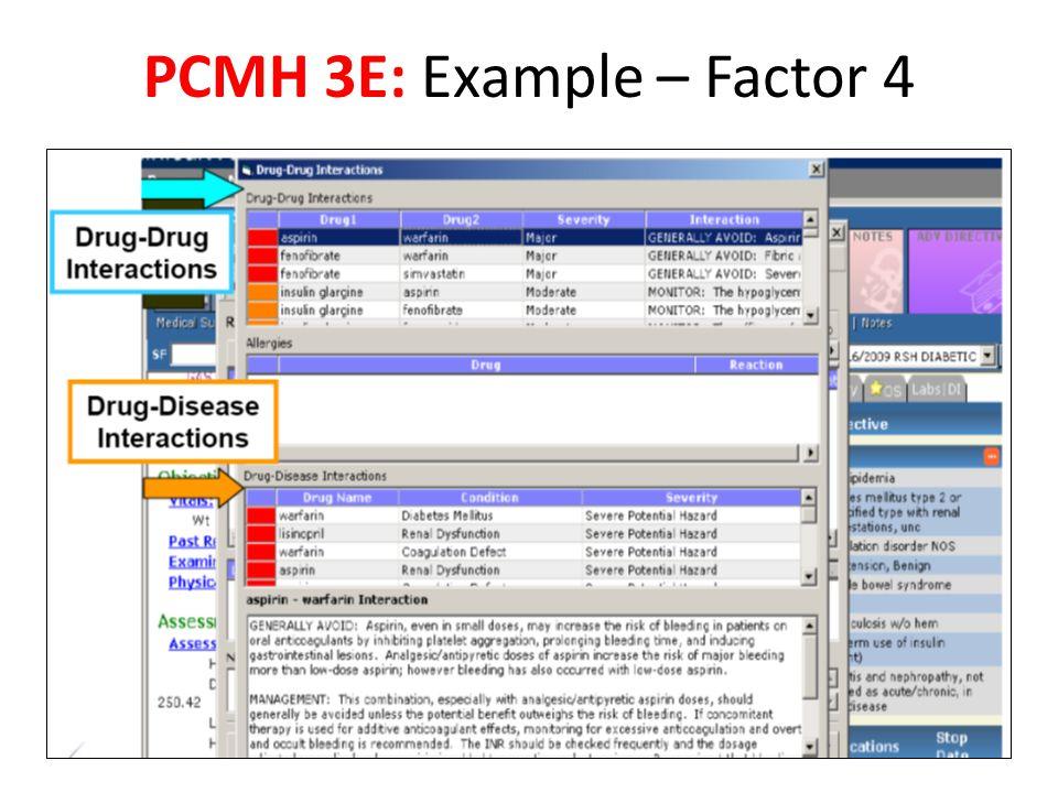 PCMH 3E: Example – Factor 4