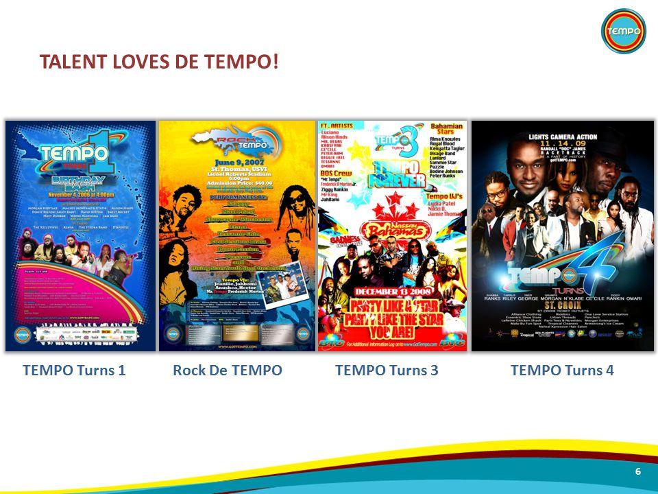TALENT LOVES DE TEMPO! 6 TEMPO Turns 1Rock De TEMPOTEMPO Turns 3TEMPO Turns 4
