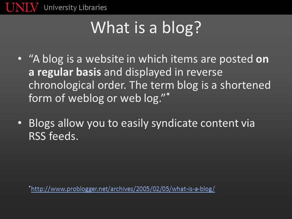 What is a blog.