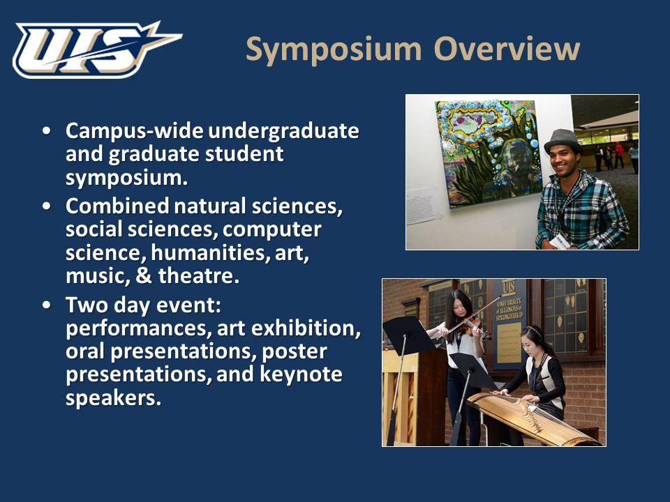 Symposium Overview Campus-wide undergraduate and graduate student symposium.Campus-wide undergraduate and graduate student symposium.