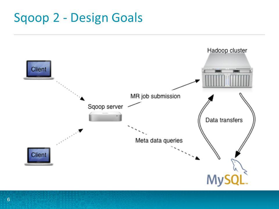 Sqoop 2 - Design Goals 6