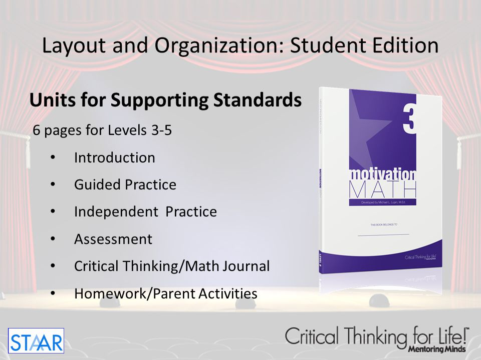Layout and Organization: Student Edition Readiness and Supporting Standards GradeReadiness Units Supporting Units Total Units 391928 4102333 5102030