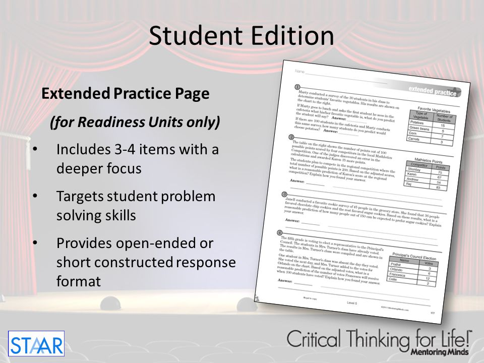 Motivation Station Page (for Readiness Units only) Provides skill practice in a game or activity format Provides opportunities for partner interaction Student Edition