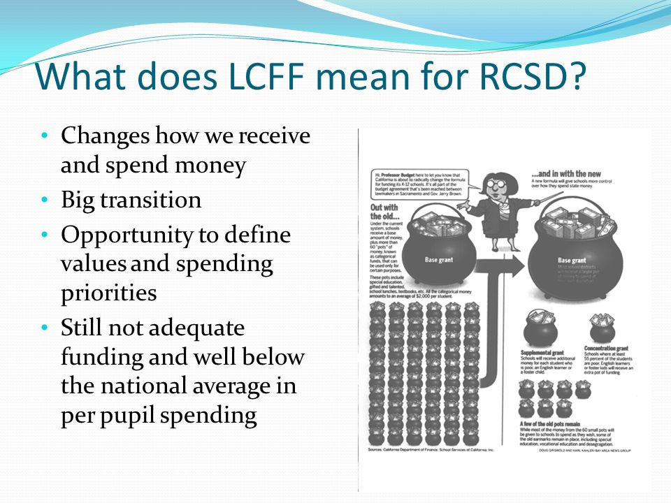 What does LCFF mean for RCSD.