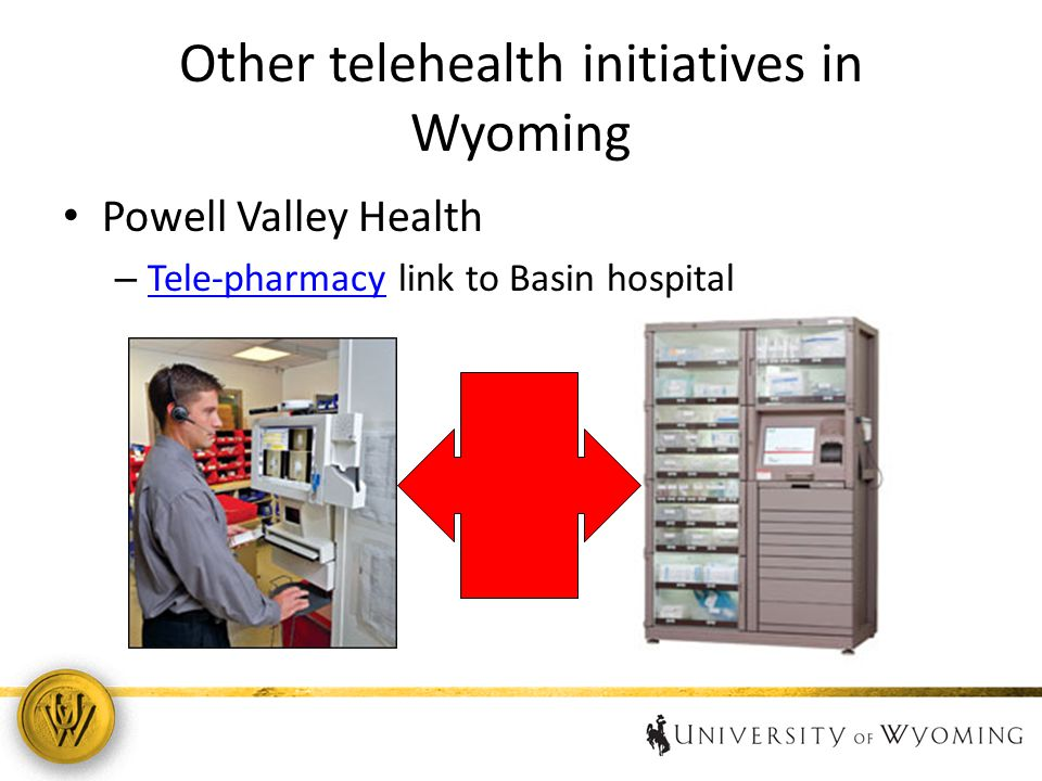 Other telehealth initiatives in Wyoming Powell Valley Health – Tele-pharmacy link to Basin hospital Tele-pharmacy 15