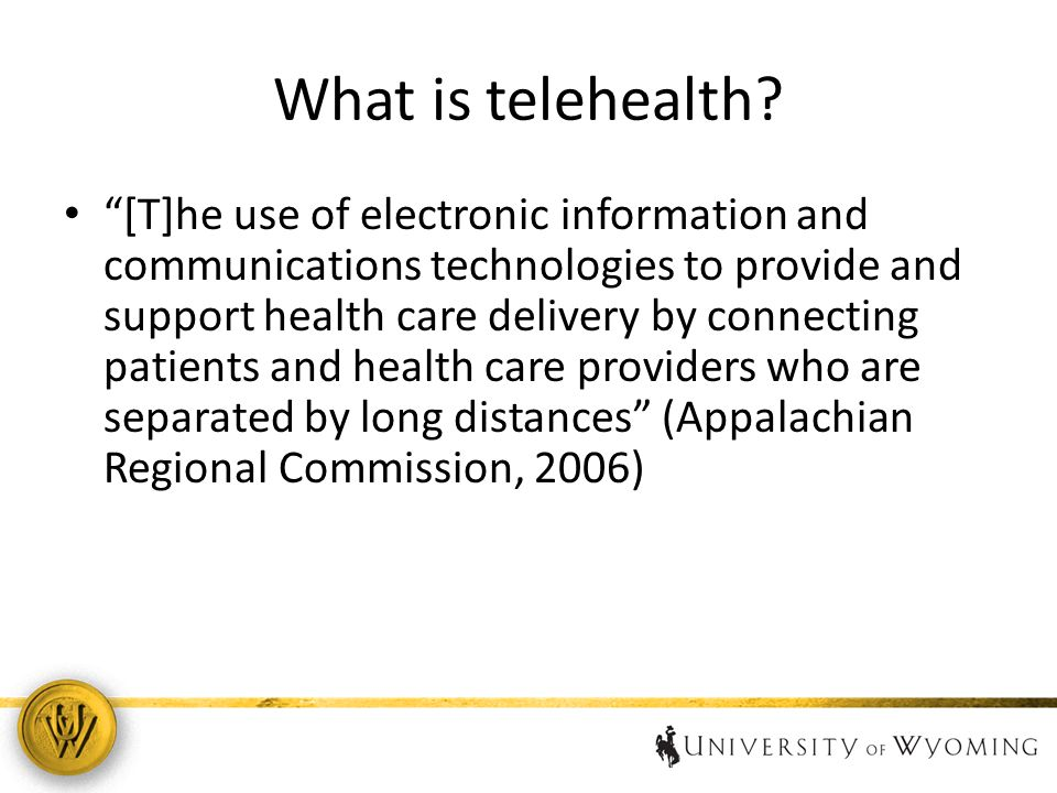 What is telehealth.