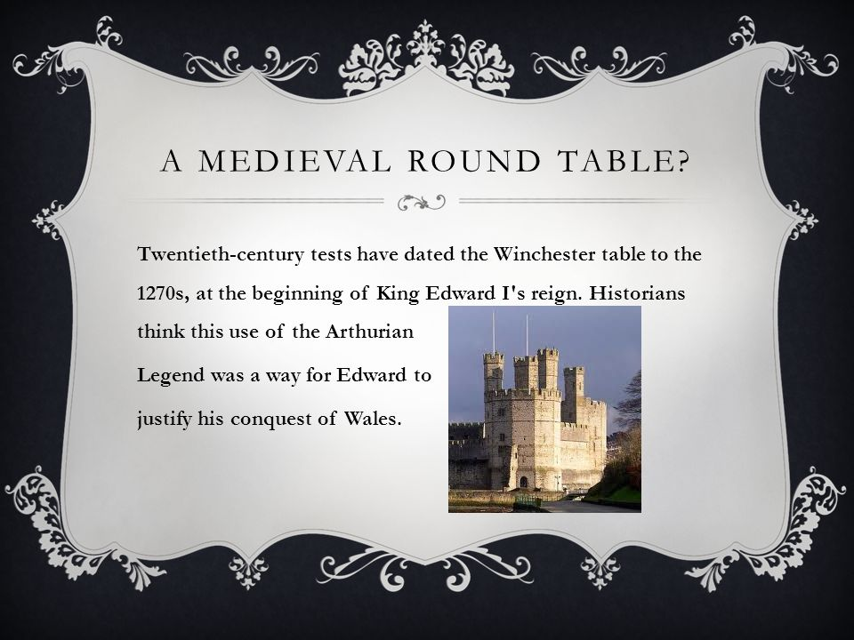 A MEDIEVAL ROUND TABLE.