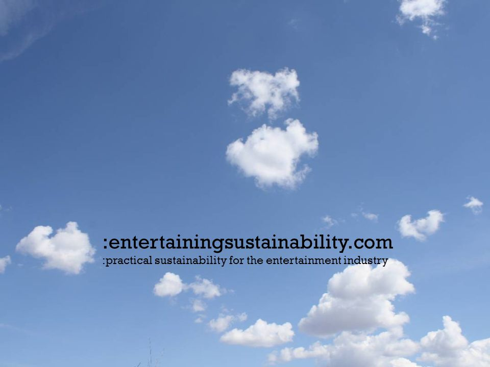If the adoption of sustainable practice is disrupting our builds, then we're doing it wrong… entsust.com