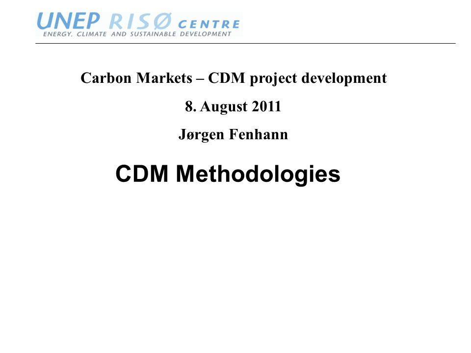 www.oeko.de ww.neprisoe.org CDM Methodologies Carbon Markets – CDM project development 8.