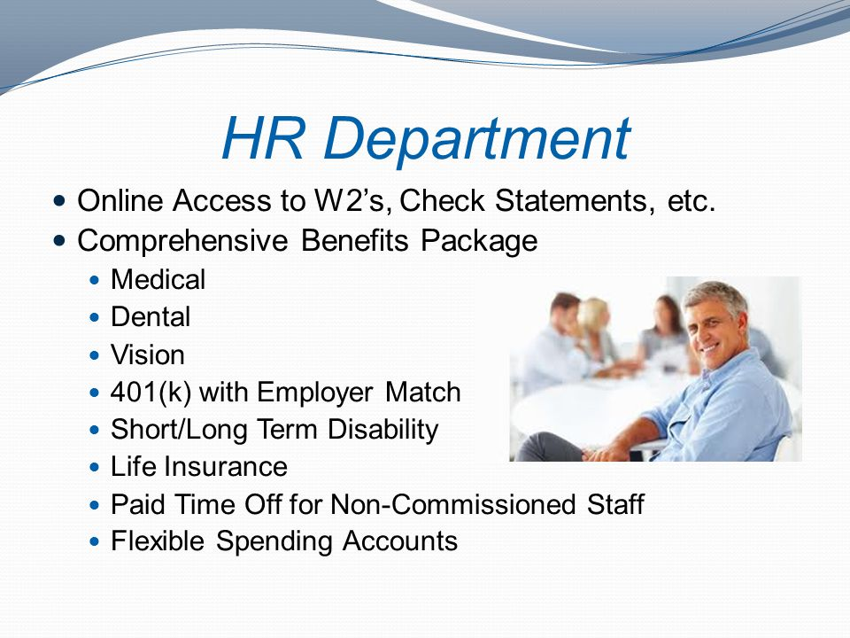 HR Department Online Access to W2's, Check Statements, etc.