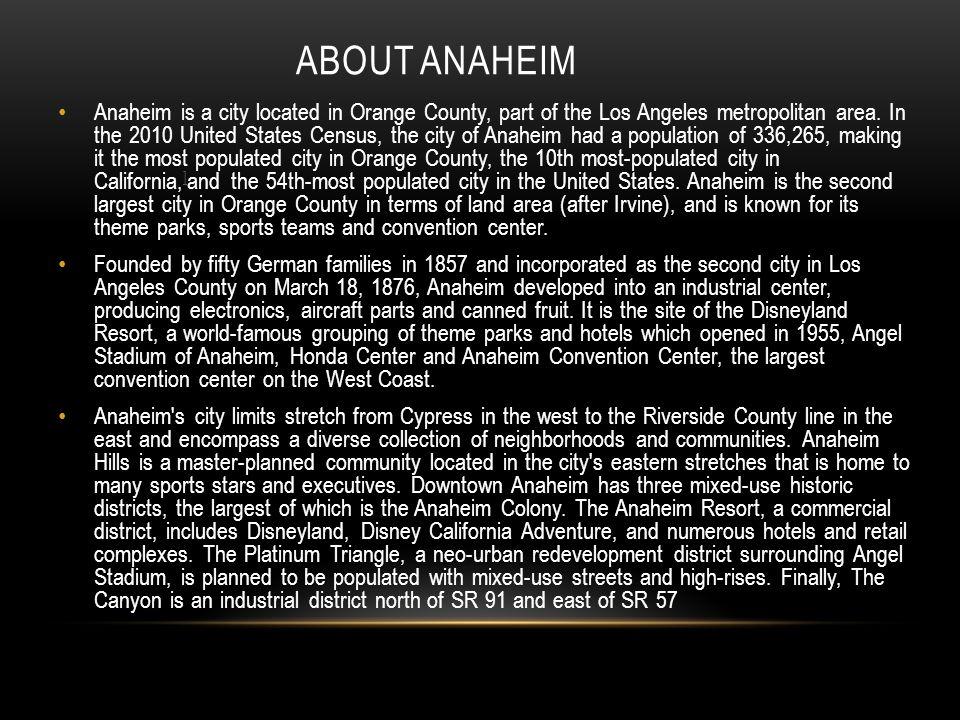 ANAHEIM SPORT STADIUMS Angel Stadium of Anaheim is a modern-style ballpark located in Anaheim, California.