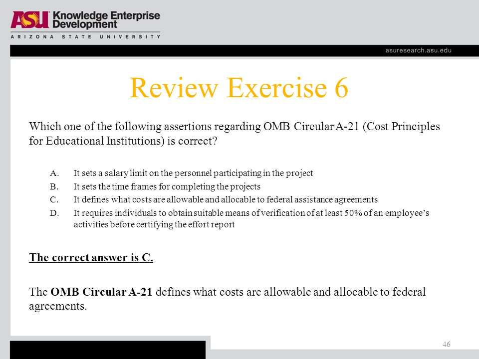 Exercise 5 What is one function of effort certification.