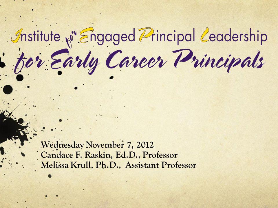 Wednesday November 7, 2012 Candace F.