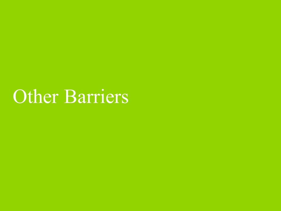 Other Barriers