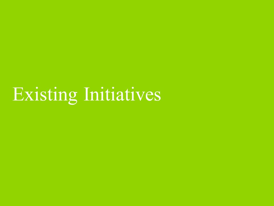 Existing Initiatives