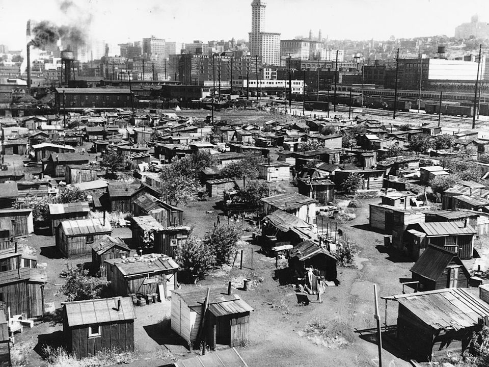 Hoovervilles Depression became national calamity Homeless people constructed shacks out of scavenged materials – Sprung up across the country Hoover blankets = newspapers Social and political structure in questions