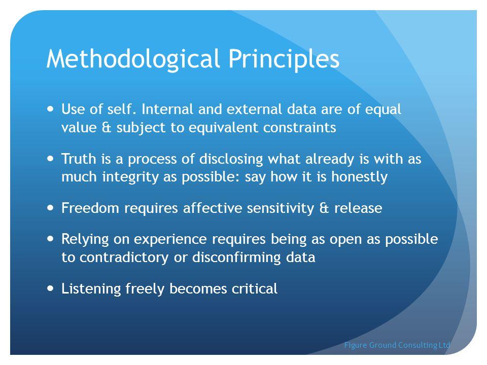 Methodological Principles Use of self.