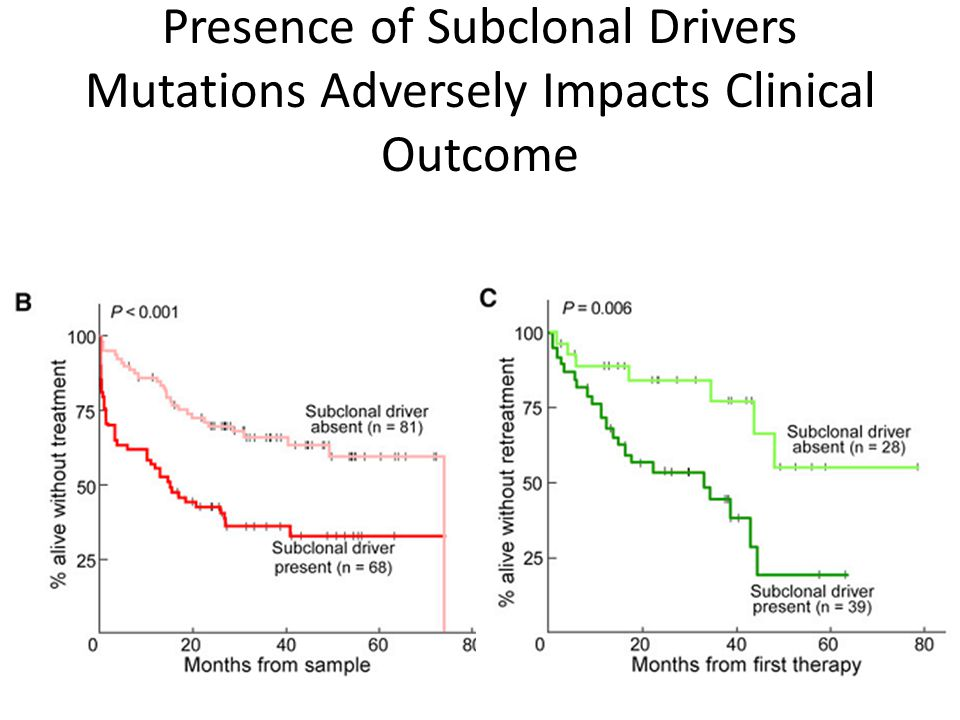 Presence of Subclonal Drivers Mutations Adversely Impacts Clinical Outcome