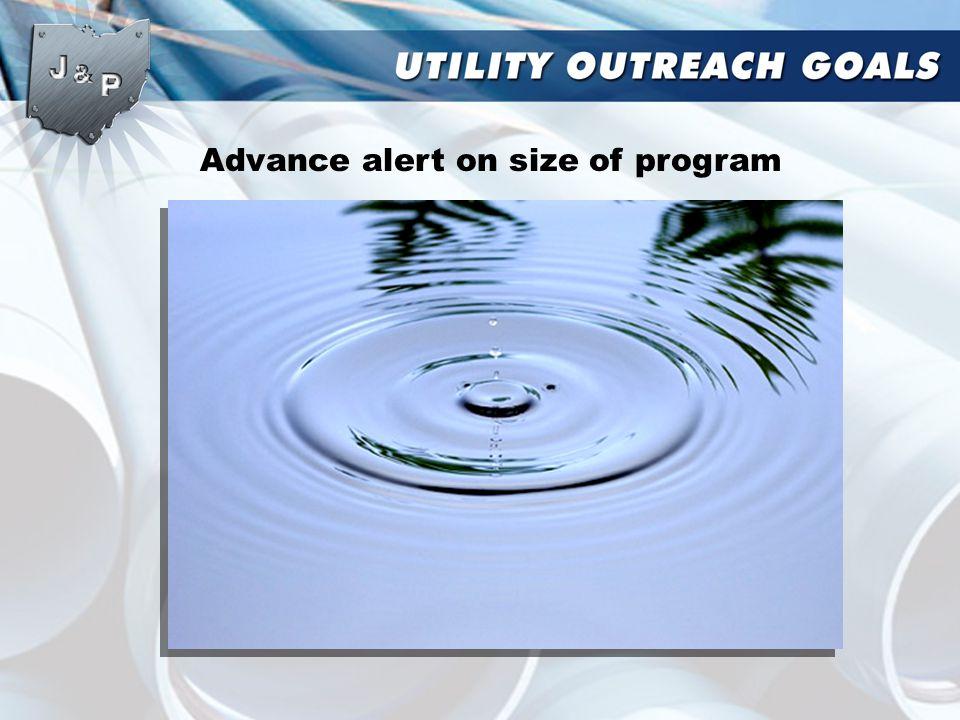 Advance alert on size of program