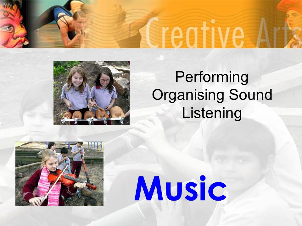 Music Performing Organising Sound Listening
