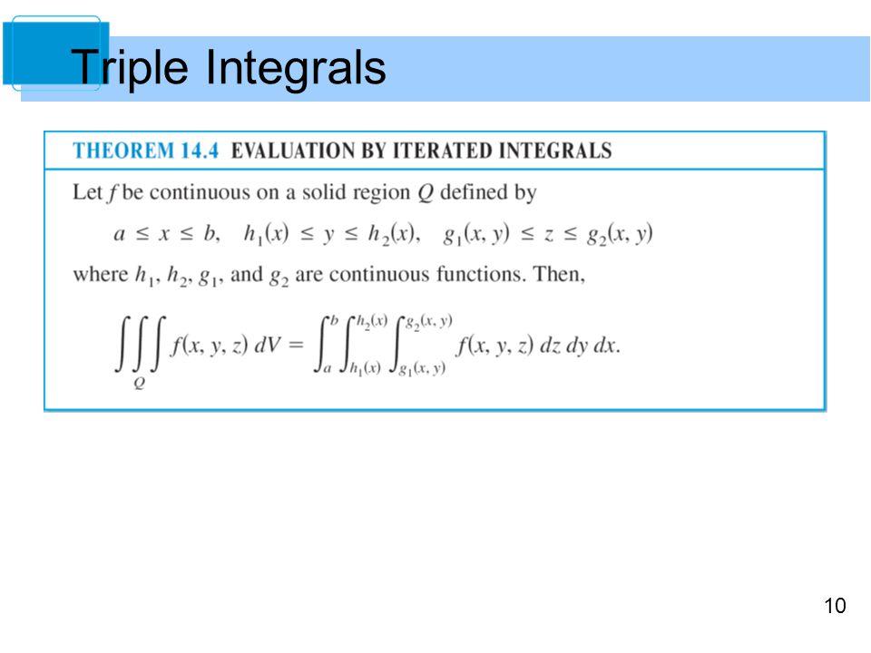 10 Triple Integrals