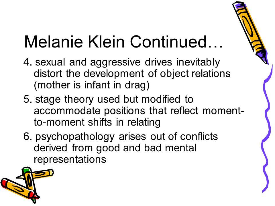 Melanie Klein Continued… 4.