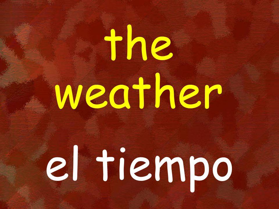 the weather el tiempo