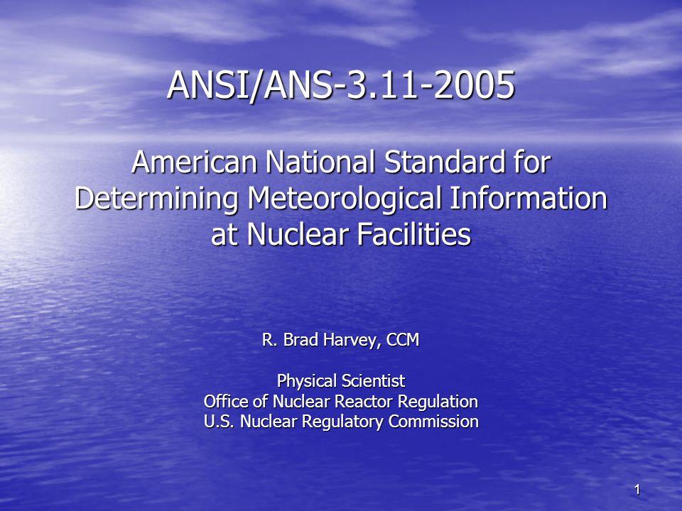 2 Presentation Topics History of U.S.NRC Meteorological Monitoring Guidance History of U.S.
