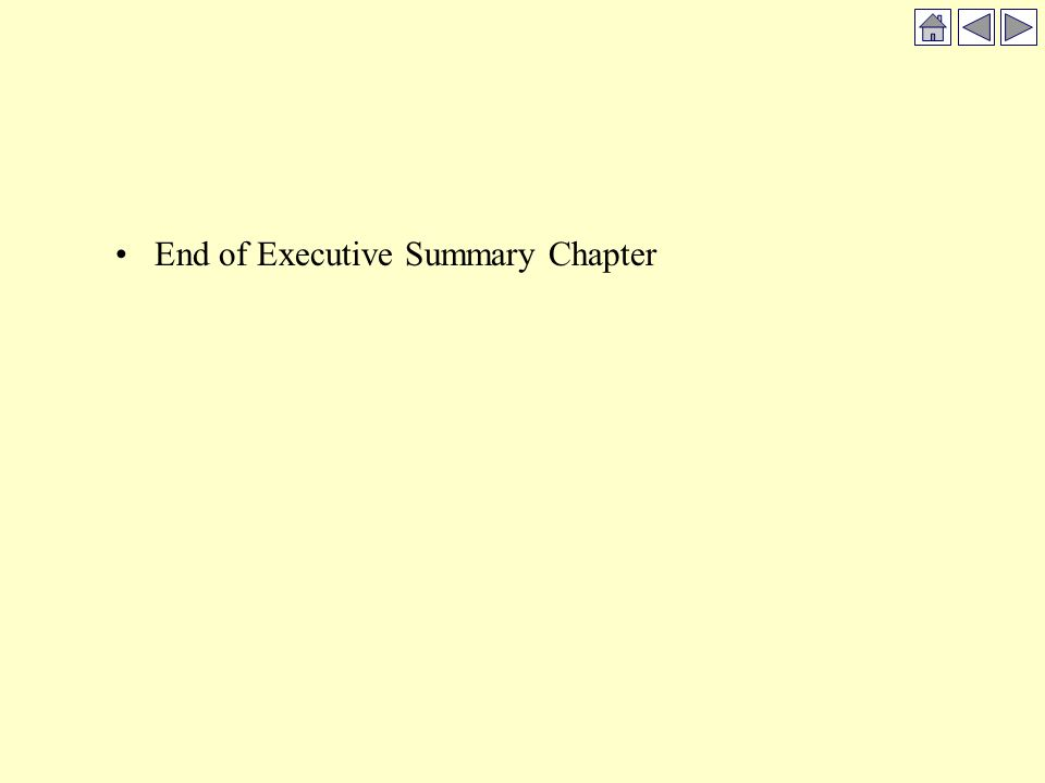 End of Executive Summary Chapter
