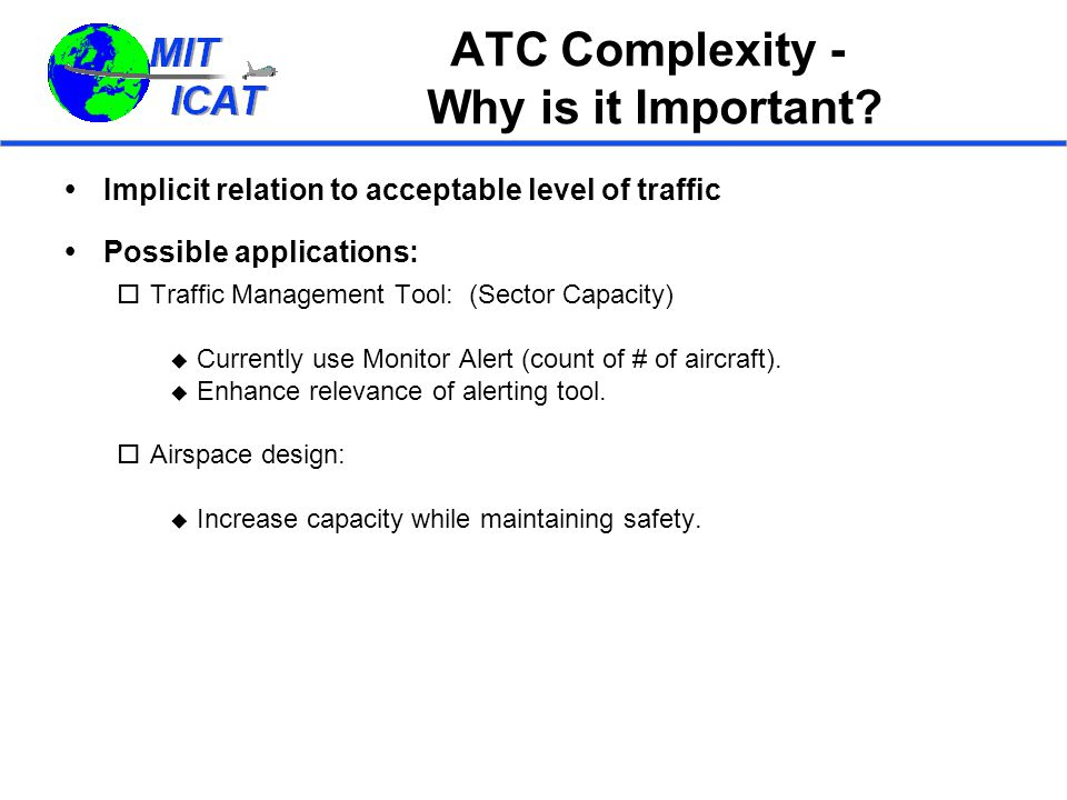 ATC Complexity - Why is it Important.