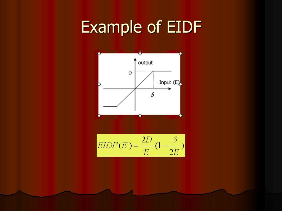 Example of EIDF