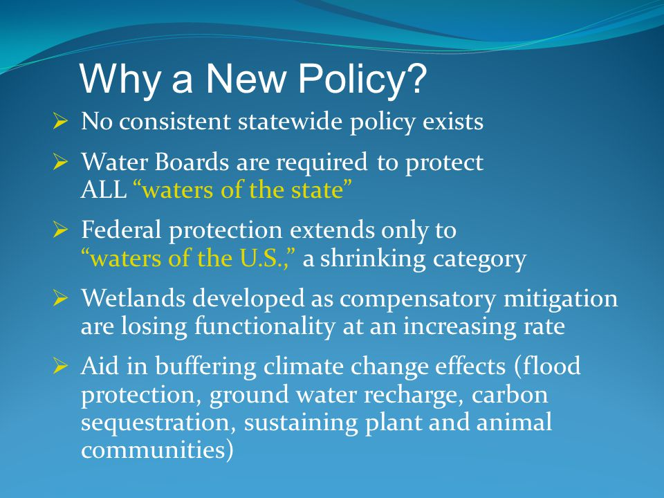 Loss of these vulnerable wetlands / riparian areas and associated benefits