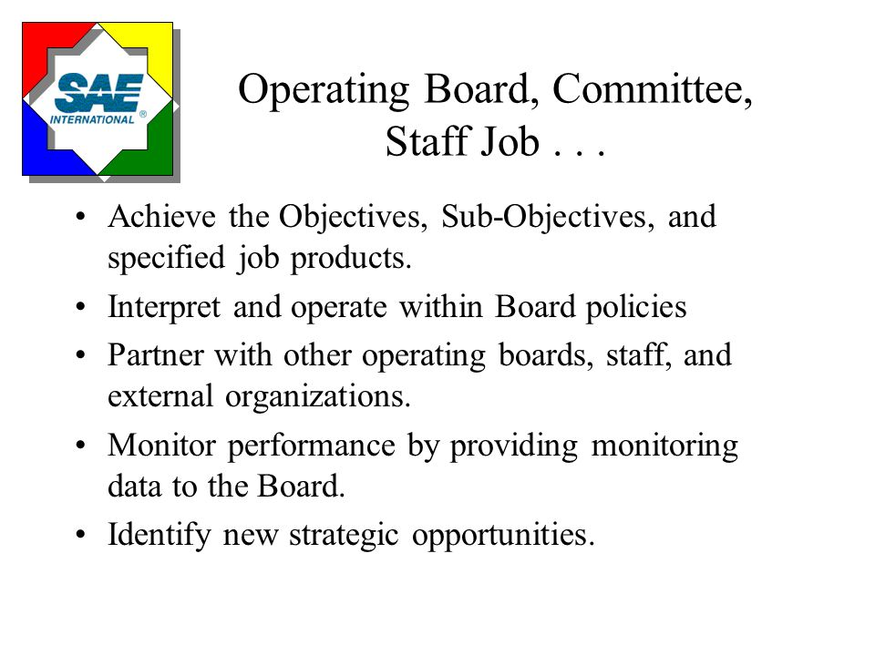 Operating Board, Committee, Staff Job...