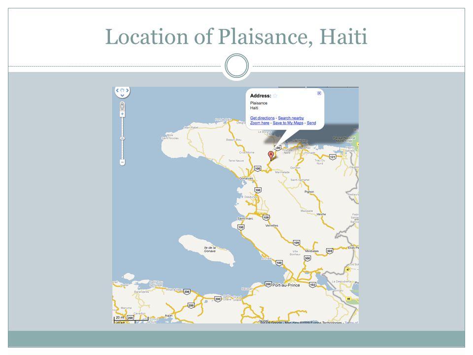 Location of Plaisance, Haiti