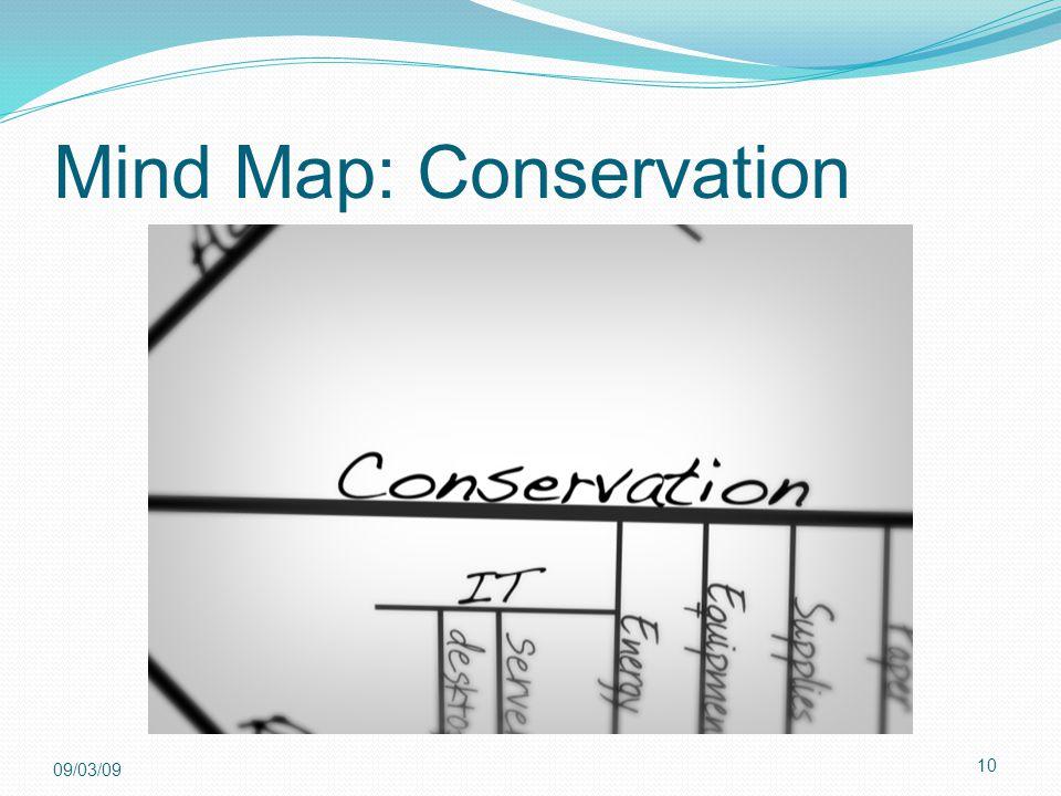 10 09/03/09 Mind Map: Conservation