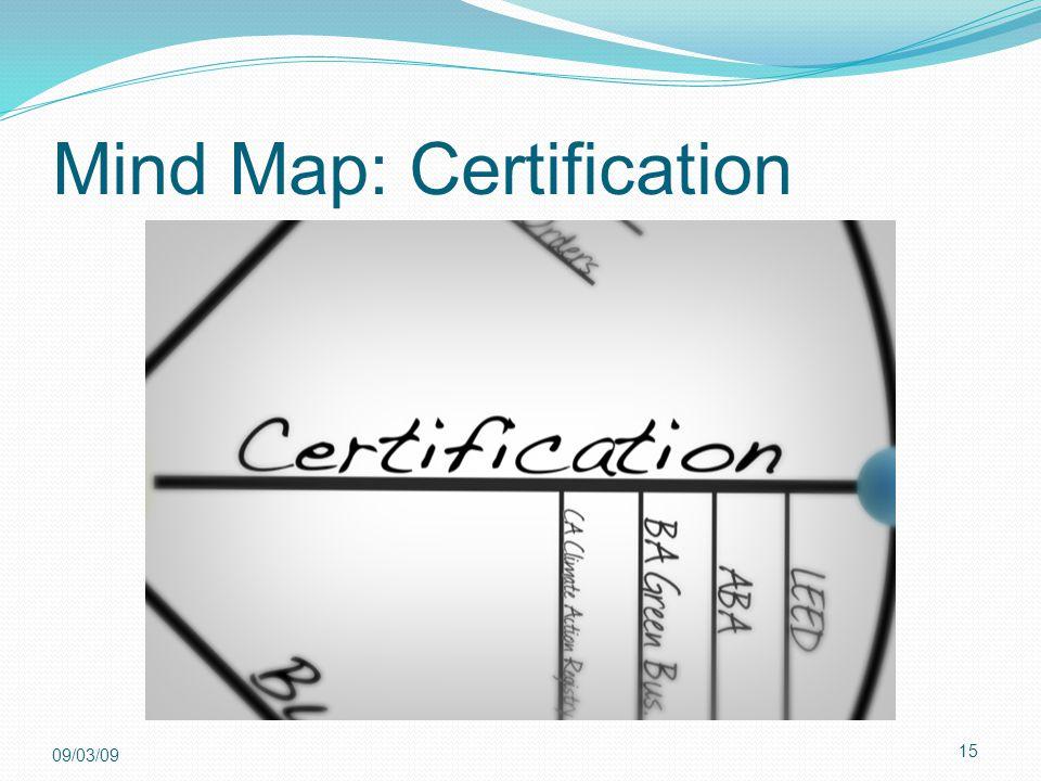 15 09/03/09 Mind Map: Certification