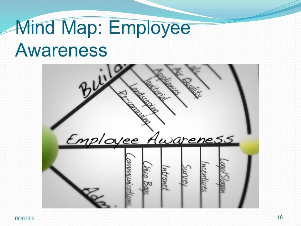 16 09/03/09 Mind Map: Employee Awareness