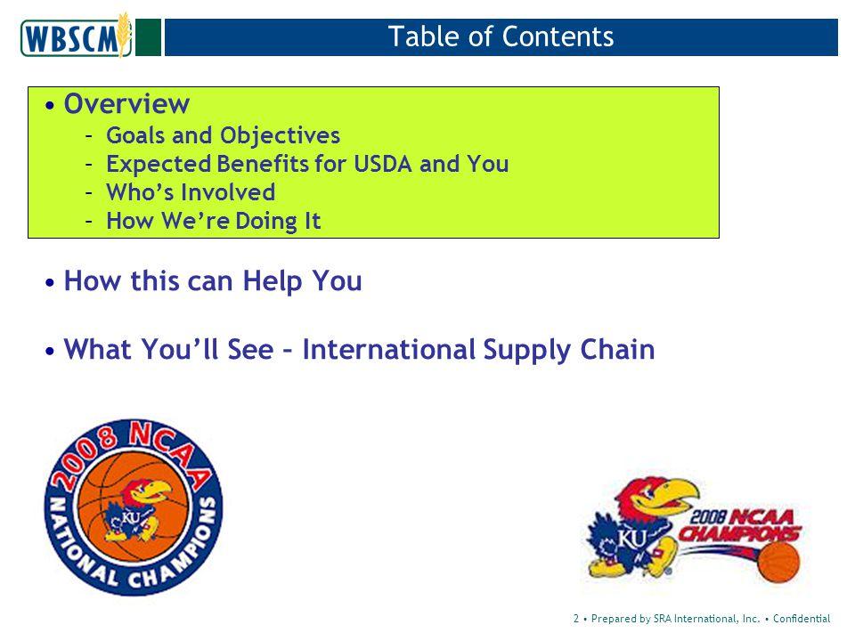 2 Prepared by SRA International, Inc.