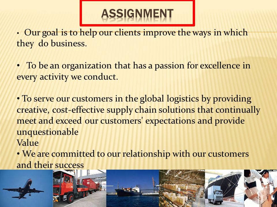 Our goal is to help our clients improve the ways in which they do business.