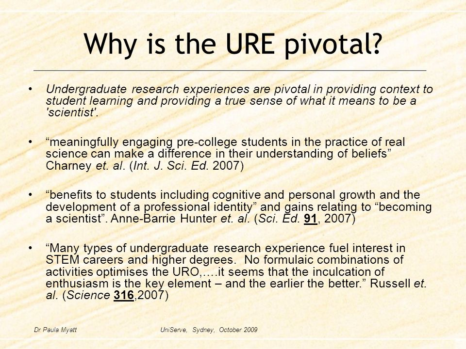 Why is the URE pivotal.