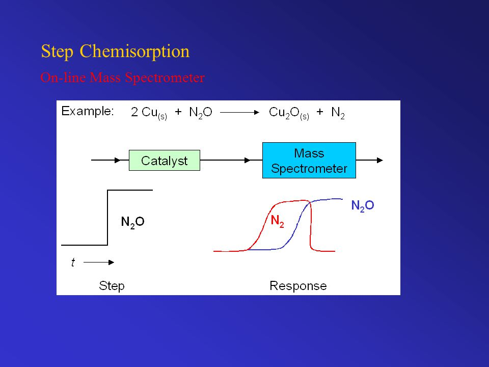 Step Chemisorption On-line Mass Spectrometer
