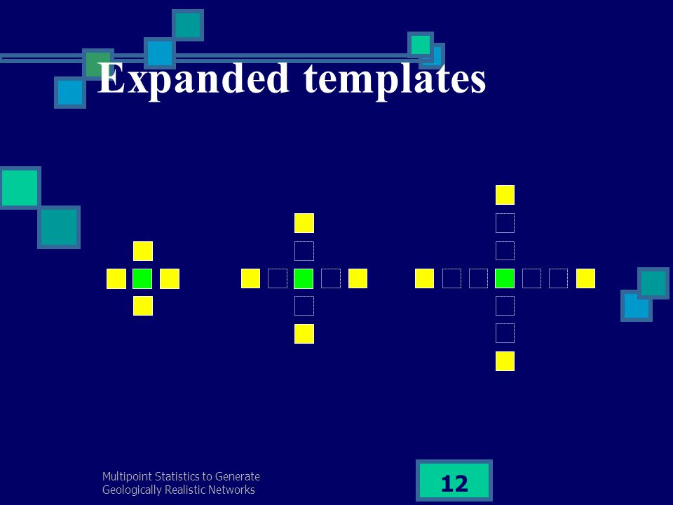 Multipoint Statistics to Generate Geologically Realistic Networks 12 Expanded templates