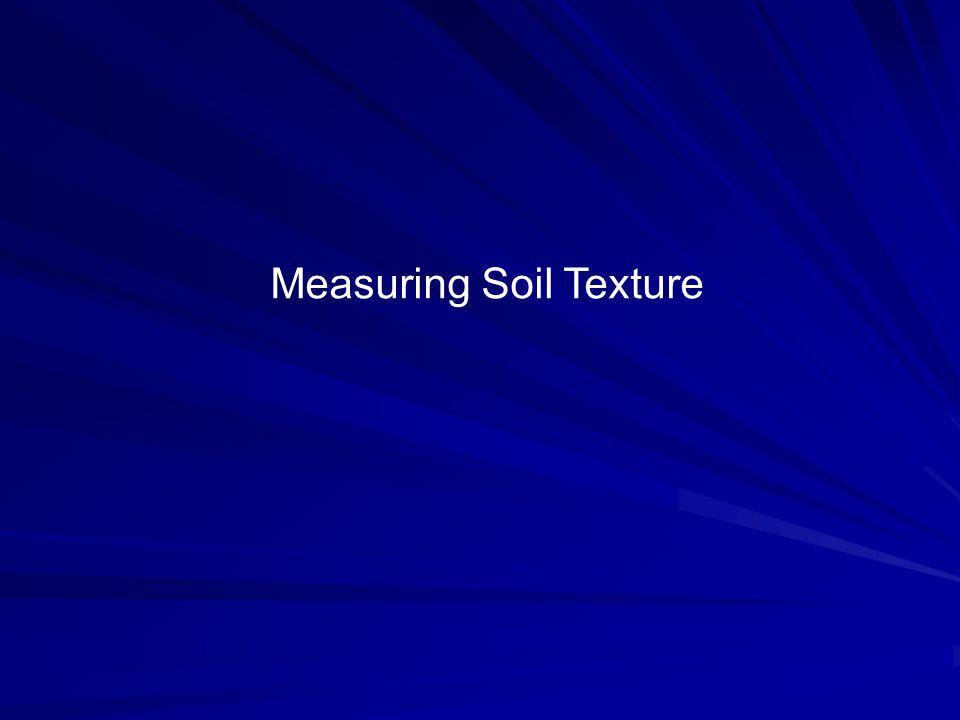 Measuring Soil Texture