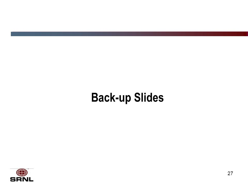 27 Back-up Slides